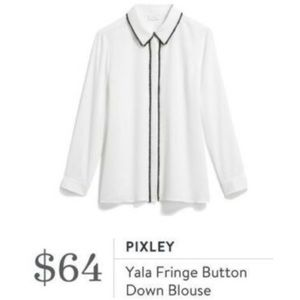 NWT Stitch Fix Pixley Yala fringe trim blouse S